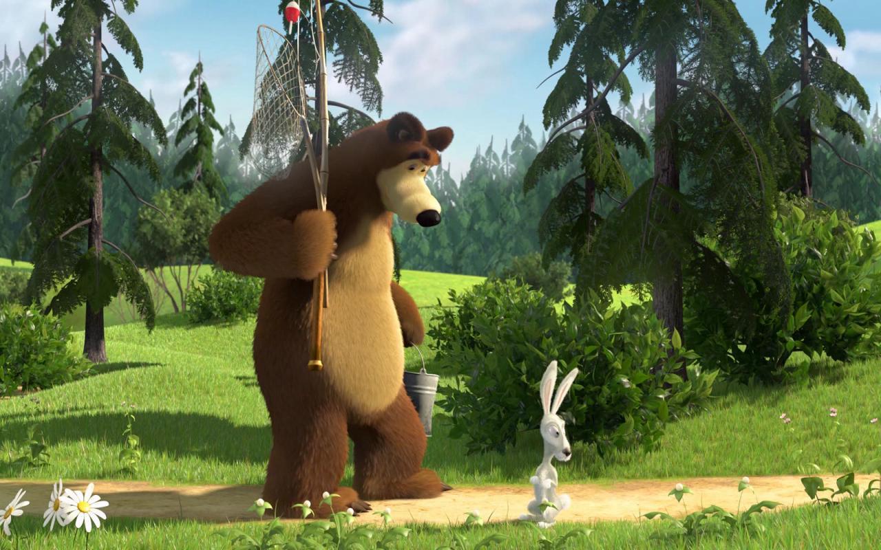 Название маша и медведь размер 1280x800